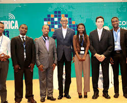 Mukeli Matai with President Kagame and other winners.