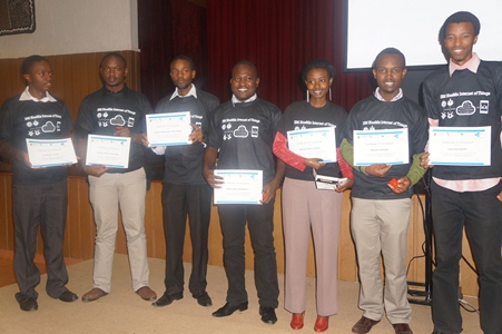 Students after receiving certificates for taking part in the training