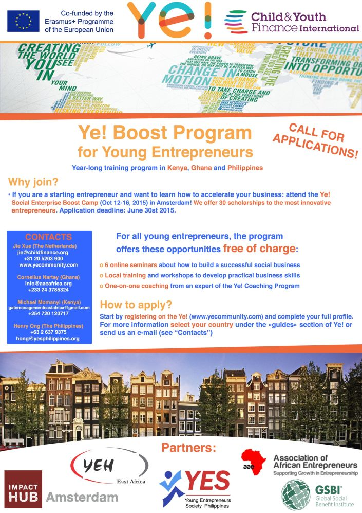Ye! Boost Program Flyer