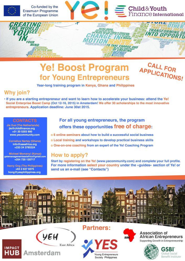 Ye! Boost Program Flyer